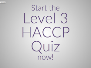 Level 3 HACCP Quiz
