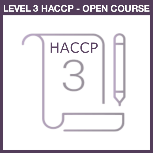 Level 3 HACCP Open course